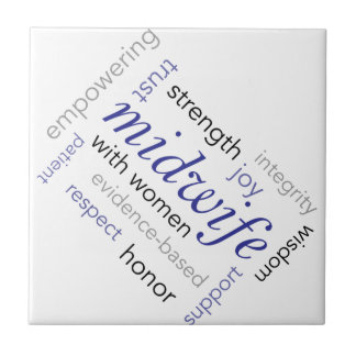 midwife word cloud tile