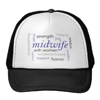 midwife word cloud trucker hat