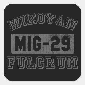MIG-29 Fulcrum Square Sticker