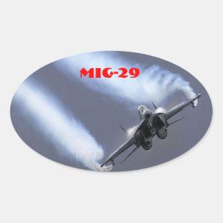 MIG-29 OVAL STICKER