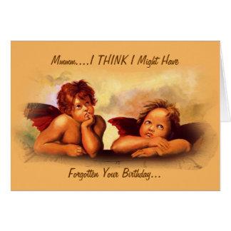 Might Have Forgotten Birthday: Angel Cherubs: Cute Card