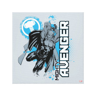 Mighty Avenger Character Graphic Canvas Print