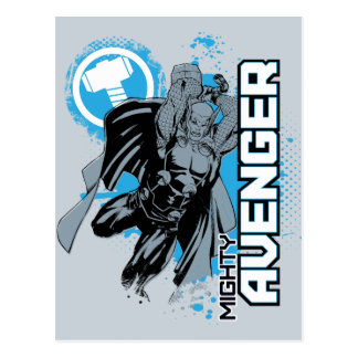 Mighty Avenger Character Graphic Postcard