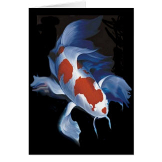Mighty Butterfly Koi Card
