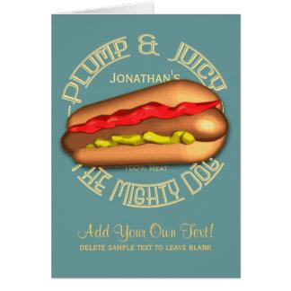 Mighty Dog Hotdog Personalized Card