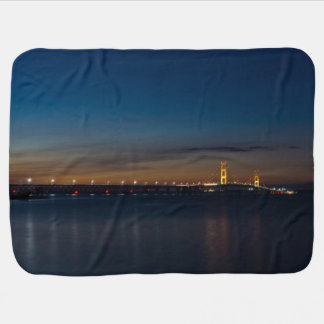 Mighty Mac At Night Pano Baby Blanket