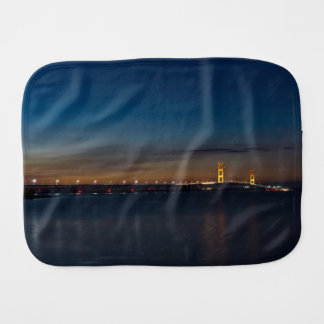 Mighty Mac At Night Pano Burp Cloth