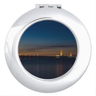 Mighty Mac At Night Pano Compact Mirror