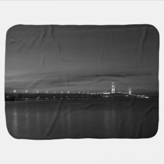 Mighty Mac At Night Pano Grayscale Baby Blanket