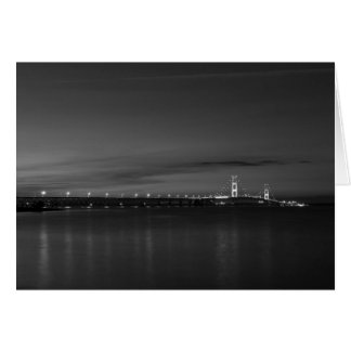 Mighty Mac At Night Pano Grayscale Card