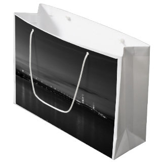 Mighty Mac At Night Pano Grayscale Large Gift Bag