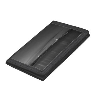 Mighty Mac At Night Pano Grayscale Tri-fold Wallets