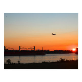 Mighty Mississippi River at Sunset Postcard