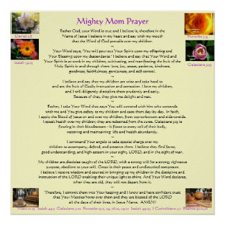 Mighty Mom Prayer Posters