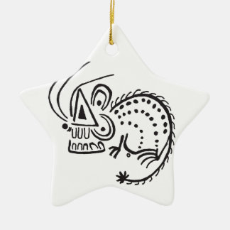 Mighty Mouse Ceramic Star Ornament