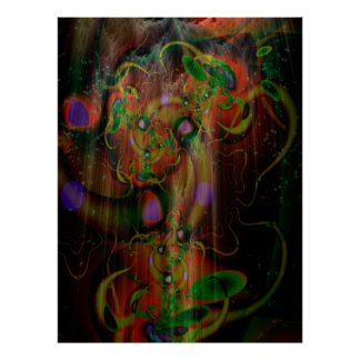 Mighty Mushroom Tree Psychedelic Art Poster