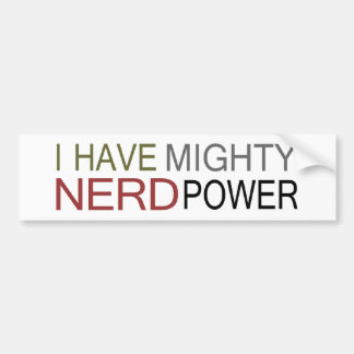 MIGHTY NERD POWER BUMPER STICKER