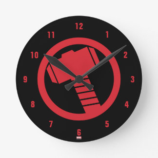 Mighty Thor Logo Round Clock