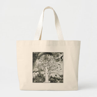 MIGHTY TREE Page 2 Large Tote Bag
