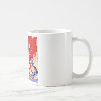 Mighty Uncle Sam Love USA Tattoo Coffee Mug