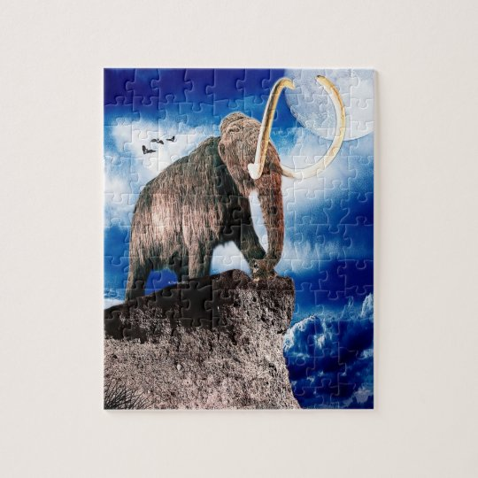 Mighty Wooly Mammoth Jigsaw Puzzle