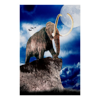 Mighty Wooly Mammoth Poster