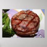Mignon de filet grillé affiche