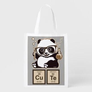 Mignon découvert par panda de chimie sac réutilisable