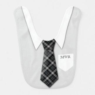 Mignon drôle de cravate du costume du garçon bavoir pour bébé