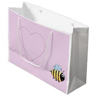 Mignon gaffez la bande dessinée d'abeille grand sac cadeau
