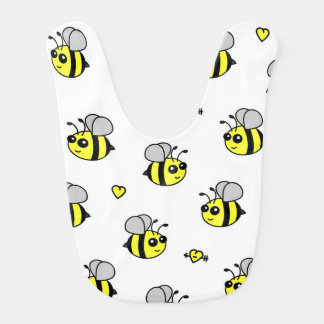 Mignon gaffez le blanc de motif d'abeille bavoir pour bébé