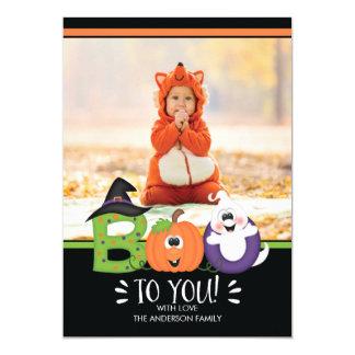Mignon HUEZ à vous le carte photo de Halloween Carton D'invitation 12,7 Cm X 17,78 Cm