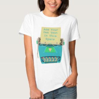 Mignon moderne de la rétro moitié du siècle bleue t-shirt
