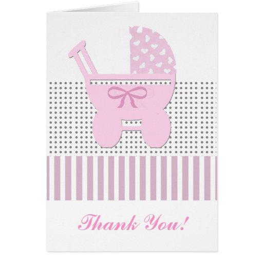 Mignon remerciez votre conception de bébé cartes de vœux