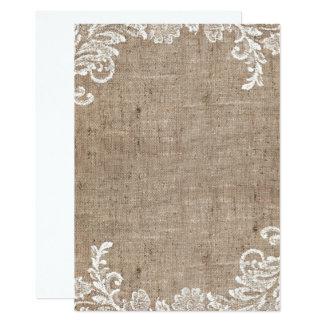 Mignon rustique carton d'invitation  12,7 cm x 17,78 cm