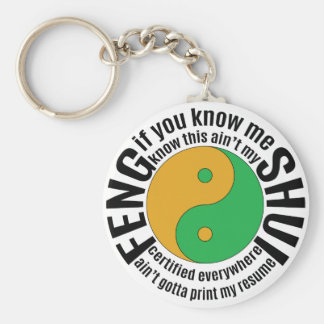 Migos Feng Shui Basic Round Button Keychain