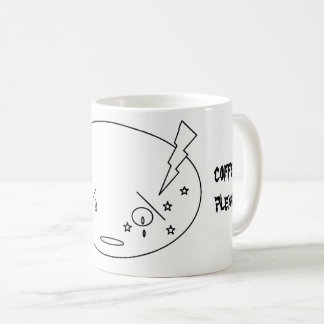 Migraine Attack Crying Face in Pain Design Coffee Mug