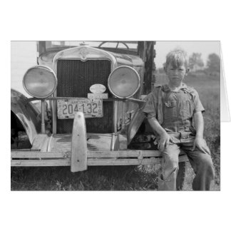 Migrant Fruit Picker's Truck, 1940 Greeting Card
