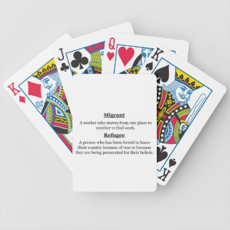 Migrant Refugees Bicycle Playing Cards