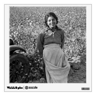 Migrant Worker in Cotton Field by Dorothea Lange Wall Sticker