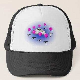 migrating penguins trucker hat