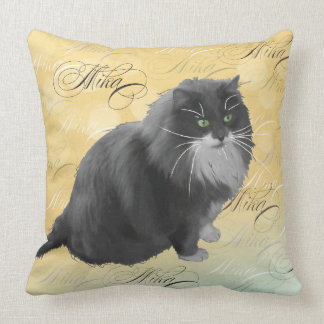Mika 3 Personalized Cat Pillow