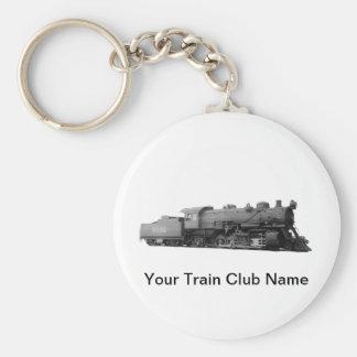 Mikado 2-8-2 Vintage Steam Engine Train Basic Round Button Keychain