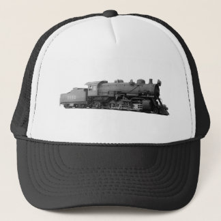Mikado 2-8-2 Vintage Steam Engine Train Trucker Hat
