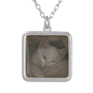 mikaela KITTEN Silver Plated Necklace