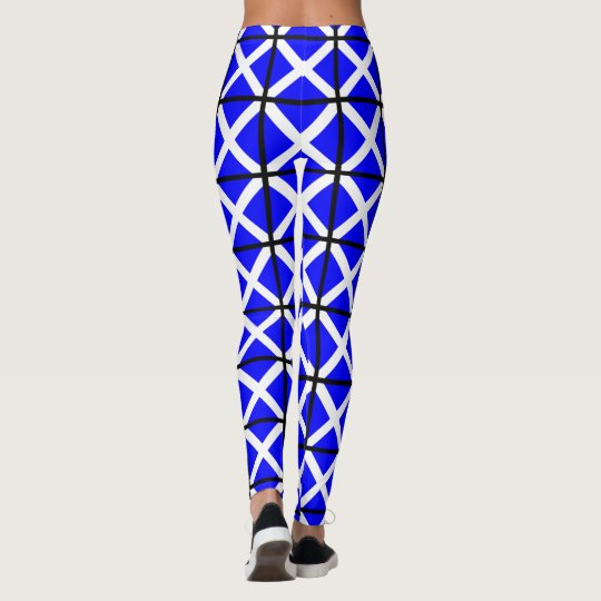 Mike blue white cross leggings