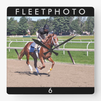 Mike Dilger Filly Square Wall Clock