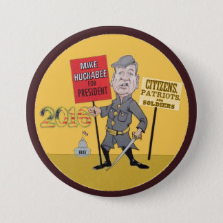 Mike Huckabee for president 2016 3 Inch Round Button