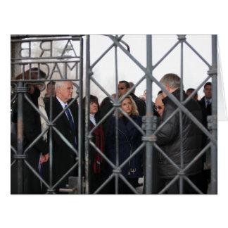 Mike, Karen, & Charlotte Pence at Dachau Card