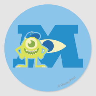 Mike M Logo Classic Round Sticker